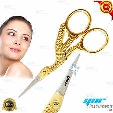 YNR® Stork Embroidery Scissors Eyebrow Sewing Knitting Scissors Thin Point Edge