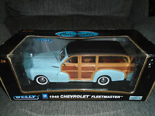 WELLY 1948 Chevrolet Fleetmaster 1:18 die cast car.