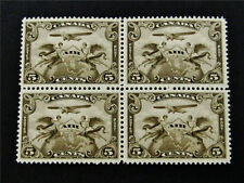 nystamp Canada Air Mail Stamp # C1 Mint OG NH UN$200 Block of 4 VF