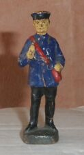 ELASTOLIN HAUSSER 6602 GERMANY FIGURINE CONDUCTEUR CHEMINS FER H 7,4 CM 92 J