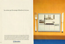 Publicité Advertising 1992 ( Double page )  ELECTROLUX cuisine four encastrable