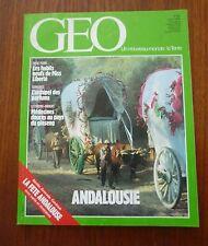 GEO N° 89 ANDALOUSIE, STATUE LIBERTÉ, ALPINISME 1986, CURE EN NORMANDIE,CISTUDES