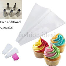 Hot Sale Double Icing Cake Piping Bag 5 Nozzles Converter Cupcake Decorating #F