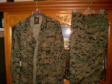 USMC MARPAT Uniform WOODLAND Combat Shirt & Pants in size MEDIUM Regular