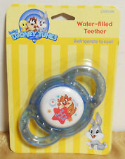 Baby Looney Tunes BABY TAZ Water-Filled Teether Blue Rattle NIP NOS