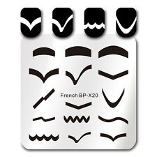 BORN PRETTY Nail Art Stamp Plate French Tips Image Stamping Template BP-X20