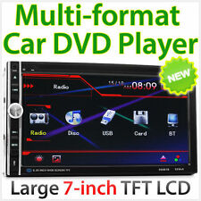 "7"" Double 2 DIN RMVB 720p HD TFT Touch Car DVD MP3 USB Player Stereo Radio ET"