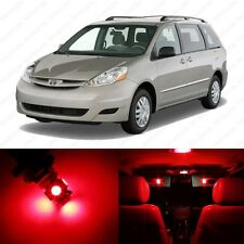 13 x Brilliant Red LED Interior Lights Package For 2004 - 2010 Toyota Sienna