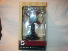 RETRO USB POWERED DESKTOP ADJUSTABLE ANGLE FAN USB CORD INCLUDED NEW IN BOX
