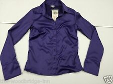 BNWT ETAM SIZE 8 PURPLE LADIES LONG SLEEVE FITTED BLOUSE (RRP £20) 1V