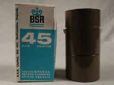 BSR 45 RPM  record spindle adapter NEW in factory box