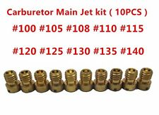 10pcs Carburetor Main Jet kit for PWK Keihin OKO CVK 100 105 108 110 115……140