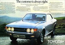 TOYOTA CELICA RETRO POSTER A3 PRINT FROM CLASSIC 70'S ADVERT