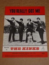 "Kinks ""You Really Got Me"" sheet music"