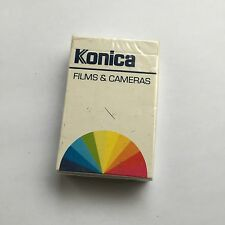 Vintage 1980's Advertising Konica Films SEALED & Unused Pack of Playing Cards