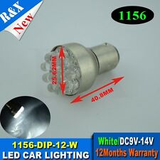 2pcs 1156 G18 BA15S 67 5007 12 LED Car Indicator Turn Tail Light Lamp Bulb White