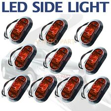 10X 12V RED Color SUPERFLUX LED MARKER ABS CLEARANCE TRUCK Boat LIGHT LAMP