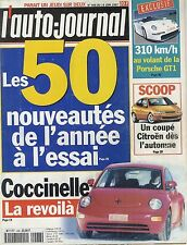 L'AUTO JOURNAL 1997 n°466 VW Coccinelle, Golf, Porsche GT1, Citröen ZX
