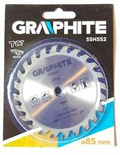 TCT 24 TOOTH BLADE DISC WOOD MINI CIRCULAR 85MM 10MM BORE LIDL PLUNGE SAW
