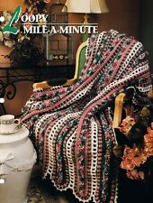 Loopy Mile a Minute  Annie's Attic Crochet Afghan Pattern Instructions