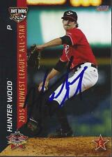 Hunter Wood Bowling Green Hot Rods 2015 Midwest League All Star Game Signed Card