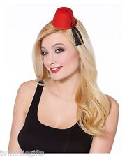 Mini Fez Hat Red Adult One Size With* Black Tassel New 01264639