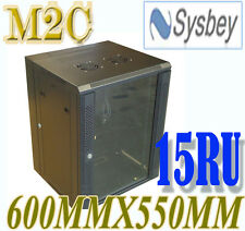 15U 15RU 600mmX550mm Wall Mount SERVER CABINET FOR NET WORK WITH FREE PDU