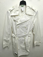 United Colors of Benetton da Donna Designer Giacca Impermeabile Cappotto BIANCO TG. d38 Top