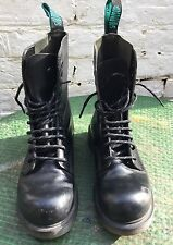 Solovair Highlander Steel Toecap Black Leather Boots Size 5