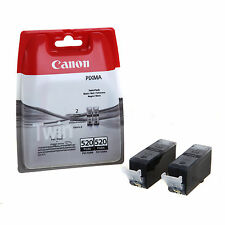New Original Canon PGI-520 Twin Pack Ink Cartridge for Canon Pixma MP550 520 2