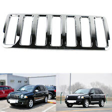 For Jeep Compass 2007-2010 ABS Front Chrome Grille Grill Overlay 1PCS