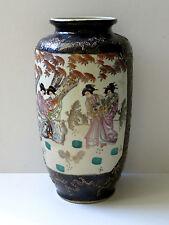 C. 20-vintage giapponese Satsuma Hand painted porcelain vase Cobalt Blue