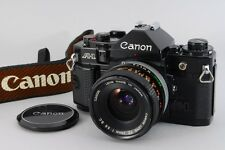 TOP MINT Canon A-1 35mm BLACK SLR Film Camera w/FD 28mm 3.5 S.C. Lens from Japan