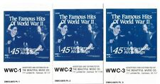 The Famous Hits of World War II 45 Unforgettable Recordings on 3 Cassettes BMG