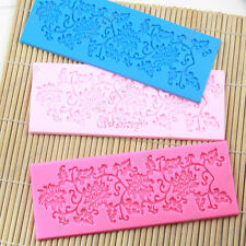 New Silicone Embossed Print Cake Flower Decorating Mold Sugarcraft Fondant Mould