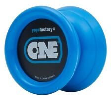 Blue ONE Yo Yo From The YoYo Factory Plus 3 FREE NEON STRINGS YELL/ORG/GREEN