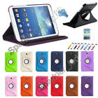 For Samsung Galaxy Tab 3 7.0 Rotating 360 Case Cover w/ Stand 7""