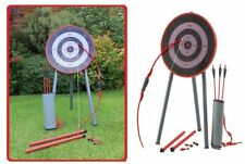 Archery Set Bow and Arrows Target Garden Game Quiver Also Blow Pipe With Darts