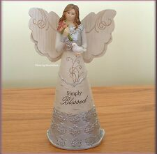SIMPLY BLESSED ANGEL WITH FLOWERS & DOVE BY PAVILION ELEMENTS FREE U. S. SHIP