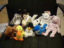 Lot Of 9 retired Beanie Babies from the 90's most hand made with pvc pellets