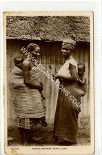 (Ga1224-450) Real Photo of Nursing Mothers, SIERRA LEONE c1910 VG