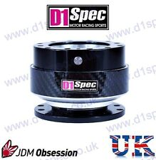 D1 SPEC UNIVERSAL STEERING WHEEL QUICK-RELEASE BLACK CARBON JDM DRIFT RALLY