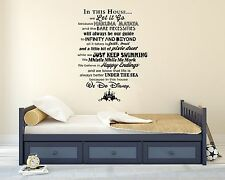 Disney Famous Movies Castle Quote Wall Decal Decor For Car Home X-Large