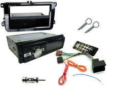 VW Golf mk5 03-09 KIT STEREO AUTO: unità di testa Radio Bluetooth mp3 + Fascia Nero