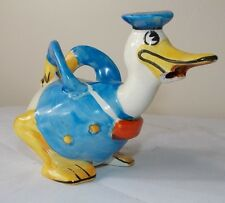 Wadeheath Wade Heath Donald Duck Mini Teapot 1930's Walt Disney Figurine (As Is)