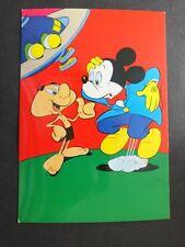 alte Postkarte AK Grafiche Biondetti Disney Mickey Mouse Ufo Micky Maus