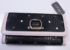 GUESS Women's Snap Close Trifold Checkbook WALLET CLUTCH Hula Girl SLG NWT
