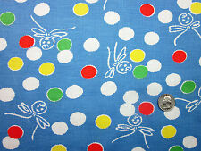 """Feedsack Vintage """"BALLOON FAIRY"""" 100% Cotton Quilt & Sewing Fabric"""