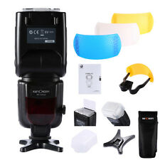 Flash Speedlite Universel sans + 3 Couleur Flash Difuseur Pour Canon Nikon