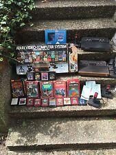 Atari 2600 Konsole Sammlung Spiele Jostick Retro